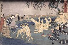 Clowning Around (Dôke, 道化) Publisher: Yamaguchi-ya Tobei c. 1839-1842 Title: Foxes Practicing the Art of Transformation (Kitsune no keiko, 狐の化のけいこ)