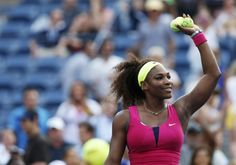 Williams of the U.S. celebrates after defeating Martinez Sanchez of Spain during their women's singles match at the U.S. Open tennis tournament in New York