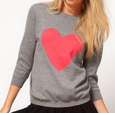 Heart sweater.