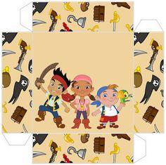Cajitas imprimibles de Jake y los piratas de Nunca Jamás. - Ideas y material gratis para fiestas y celebraciones Oh My Fiesta!
