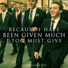 Because I have been given much I too must give!