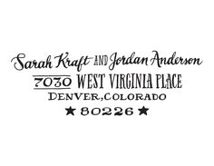 Only $125 for a hand drawn return address rubber stamp! Image of Star type by Ladyfingers Letterpress. Order online!