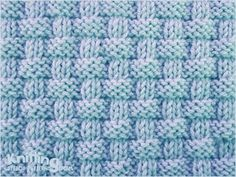"""Alternating knit and purl stitches created this richly textured pattern. Pie crust basketweave stitch is an eight row repeat and is knitted in multiple of . Knit Purl Stitches, Dishcloth Knitting Patterns, Knitting Stiches, Knit Dishcloth, Knitting Charts, Crochet Patterns, How To Purl Knit, Le Point, Knitted Blankets"