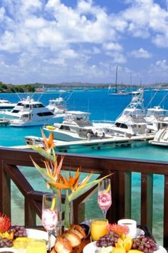 Indulge in brunch (with a view) while staying in the British Virgin Islands.