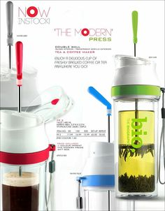 """THE MODERN"" PRESS - NOW IN STOCK! Enjoy a delicious cup of freshly brewed coffee or tea anywhere you go!"