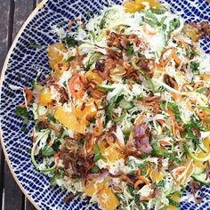 designer bags and dirty diapers: Chopped and Spiralized Thai Salad with Crispy Shallots