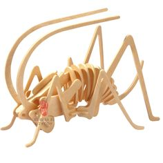 Wooden Puzzle - Cricket -Affordable Gift for your Little One! 3d Puzzles, Wooden Puzzles, Cnc, Wood Crafts, Diy And Crafts, Cardboard Animals, Animal Puzzle, 3d Figures, Wood Lamps