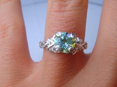 Green Crush Mystic Topaz Sterling Silver Ring by PassionateJewelry, $38.00