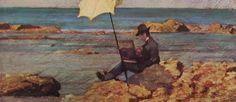 Fattori - Silvestro Lega dipinge in riva al mare