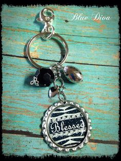 Hey, I found this really awesome Etsy listing at https://www.etsy.com/listing/184635568/blessed-bottle-cap-keychain-purse-charm