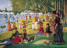 """""""A Sunday Afternoon on the Island of La Grande Jatte"""" -Georges Seurat- I saw the musical based on this on Broadway-""""Sunday in the Park with George""""- was very interesting. Georges Seurat, Candy Art, Classic Artwork, Post Impressionism, Historical Art, Paintings I Love, Art And Architecture, Art Museum, Art History"""