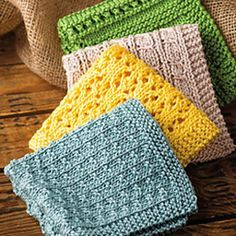Washcloths/dishcloths are not only handy, but they give me a chance to practice techniques on a small scale. Ravelry has plenty of options, but this 4-pack is a good starter.