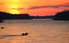 Tornionjoki Suomen ja Ruotsin rajalla