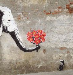 From the rat, I guessing this is another piece from the symbolic genius - Banksy. Banksy Graffiti, Street Art Banksy, Murals Street Art, Bansky, Banksy Wall Art, Love Graffiti, Street Art Utopia, Street Art Love, Amazing Street Art