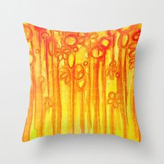 SUMMER SENTIMENTS Decorative 18 x 18 Throw Pillow by EbiEmporium, $30.00