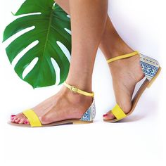 Yellow Nais Sandal
