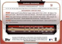 2015 Bowman #51 Chris Owings Back