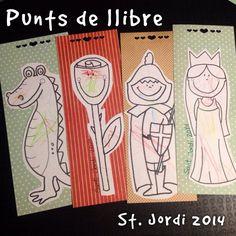 Punts de llibre de Sant Jordi pintats per la Mariona