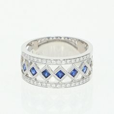 Items similar to Synthetic Sapphire & Diamond Band Ring - Gold Princess Brilliant on Etsy Sapphire And Diamond Band, Sapphire Color, Diamond Clarity, Diamond Bands, Diamond Wedding Bands, Natural Diamonds, Band Rings, White Gold, Princess Cut