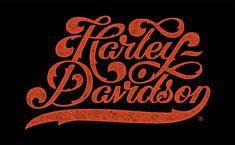Harley davidson script textured 1500