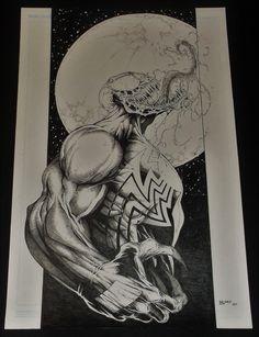 Venom  Ultimate Spiderman #35  Mark Bagley Cover Homage Comic Art