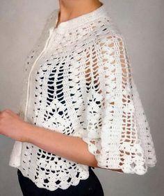 Prayer Shawl Crochet Pattern, Crochet Cape Pattern, Crochet Table Runner Pattern, Bolero Pattern, Crotchet Patterns, Crochet Motifs, Shawl Patterns, Knitting Patterns, Crochet Shawls And Wraps