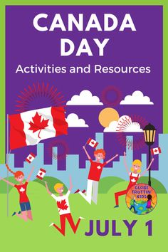 Learn the history and traditions of Canada's national holiday celebrated every July 1. Includes book suggestions, recipes, and crafts. #CanadaDay #Canada #NationalHolidays #OhCanada #CanadaBooksforKids #CanadaResearchProject #Geography #CulturalAwareness #CountryCelebrations #GlobalEd #kidlit #Canadian Canada For Kids, Canada Day, Summer Activities For Kids, Fun Activities, Geography Of Canada, Multicultural Classroom, Festivals Around The World, Book Suggestions, Day Book