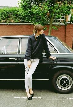 Vintage Car & Girl