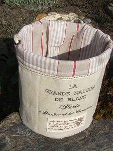 Textilní košík La maison