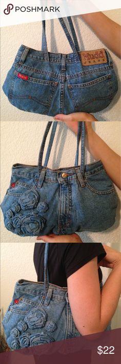 Denim Rose MUDD handbag Intricate detail, custom made just for you! MUDD Bags Shoulder Bags