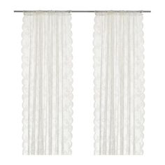 I need 3 of these. :) What a deal! ALVINE SPETS Sheer curtains, 1 pair   - IKEA