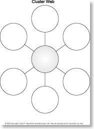 Cluster Web 6 Graphic Organizer