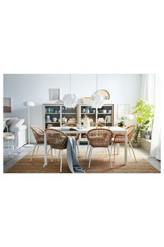 Rattan Dining Chairs, Rattan Furniture, Handmade Furniture, Dining Room Furniture, Furniture Making, Outdoor Furniture Sets, Dining Table, Kitchen Chairs Ikea, Ikea Chairs