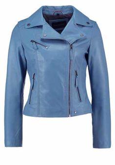 Oakwood Chaqueta De Cuero Light Blue abrigos y chaquetas Oakwood Light cuero Chaqueta Blue Noe.Moda