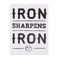 Iron Sharpens Iron White Sticker