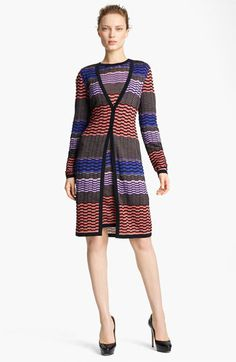 I'd smile all day wearing this.  Missoni Long Knit Cardigan available at #Nordstrom