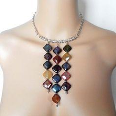 Modern+Necklace+Statement+Jewelry+Semi+Precious+by+Rocktopolis,+$51.00