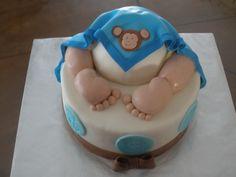 baby-bum - Baby Boy Butt Cake   (Monkey Theme)