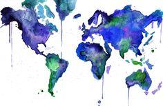 Jessica Durrant's watercolour maps have me wanderlusting...