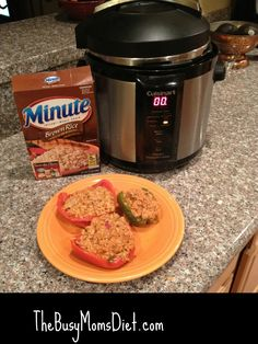 Minute Rice Stuffed Bell Peppers in the Pressure Cooker Recipe #LoveEveryMinute @MinuteRice