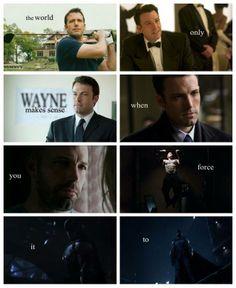 Ben Affleck as the new Batman. I approve.