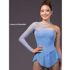 This was listed under practice wear so I'm sort of skeptical with it, but still, a gorgeous dress.  I already love the color (periwinkle) but it might look nice in black, or even a lighter/darker blue color.