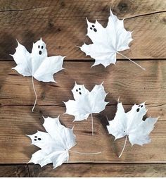 idée diy enfant facile feuille Halloween thème fantôme clemaroundthecorner