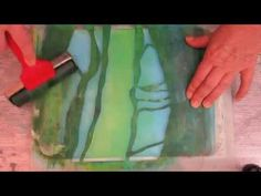 Gelli Plate demo Met Golden Open Acrylverf - YouTube