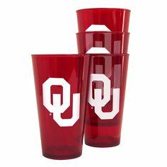 Oklahoma Sooners Plastic Pint Set - 4 Pack
