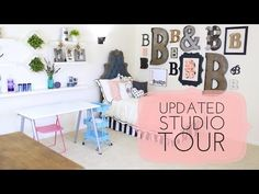 Be sure to subscribe to Jenny from ShowMeCute {http://www.youtube.com/ShowMeCute}, my mom's best friend who helped us decorate our studio! ________ Everyone ...