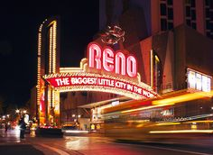 Reno, Nevada where we ran off and got married.