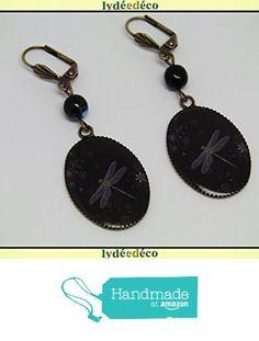 Boucles d'oreilles rétro vintage résine Libellule fleur gris noir resine laiton bronze perles verre pendentifs 18x25mm attaches coquillage à partir des Lydee Deco https://www.amazon.fr/dp/B073R2DPV9/ref=hnd_sw_r_pi_dp_VGmyzbEXRFCTP #handmadeatamazon
