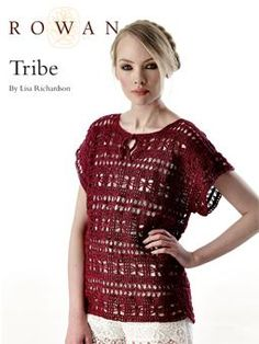 Tribe - free crochet lace stitch top pattern by Marie Wallin. Crochet Tunic, Crochet Clothes, Crochet Lace, Free Crochet, Knitting Patterns Free, Free Knitting, Crochet Patterns, Crochet Summer Tops, Crochet Tops