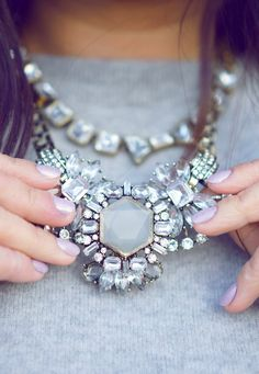 jeweled statement necklace